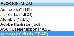 Export dae 3DS Max