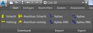 Isybau TRanslator in Civil 3D