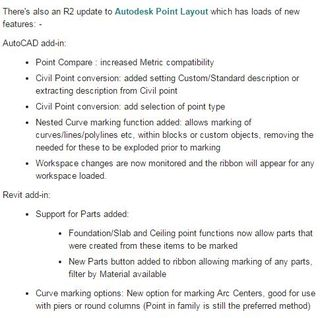 Verbesserungen Point Layout 2016-2