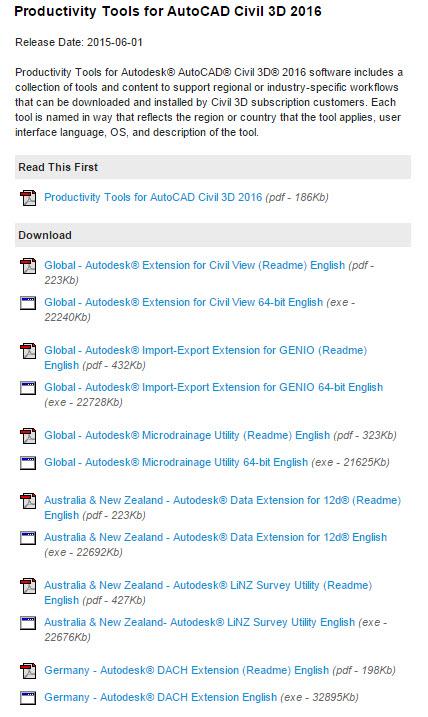 Produkterweiterungen Fur Civil 3d 2016 Und Vehicle Tracking 2016