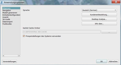 Anwendungsoptionen-CACHE Ordner